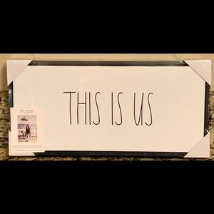 "Rae Dunn Framed Canvas - ""This is Us"""